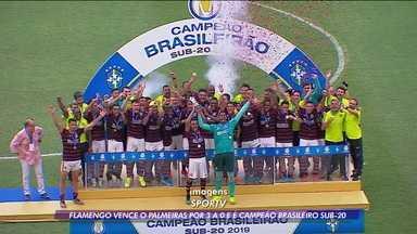 Flamengo vence o Palmeiras por 3x0 e é o campeão do Brasileiro Sub-20 - Flamengo vence o Palmeiras por 3x0 e é o campeão do Brasileiro Sub-20