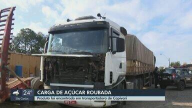 Roubo de carga de açúcar em Araraquara leva policiais a galpão com produtos em Capivari - Vários estavam armazenados de forma irregular e vencidos.