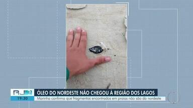 Marinha confirma que fragmentos encontrados em praias de Cabo Frio não são do Nordeste - Material foi analisado no Instituto de Estudos do Mar Almirante Paulo Moreira, em Arraial do Cabo.