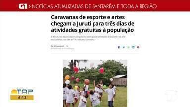 Confira as notícias em destaque no G1 Santarém e região - Confira as notícias em destaque no G1 Santarém e região