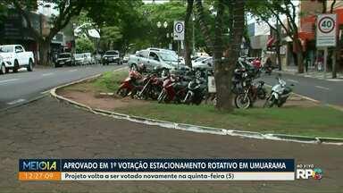 Implantação da Zona Azul volta a ser discutida em Umuarama - Motoristas reclamam da falta de estacionamento na cidade.