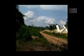 Avião sofre acidente durante pouso em Ourilândia do Norte - Avião sofre acidente durante pouso em Ourilândia do Norte