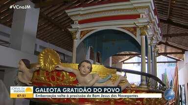Galeota Gratidão do Povo será apresentada à comunidade durante missa no Dia do Marinheiro - Embarcação volta à procissão do Bom Jesus dos Navegantes.
