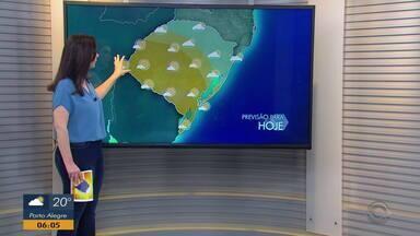 Chuva começa a diminuir e sol predomina na maior parte do RS nesta quinta-feira (5) - Assista ao vídeo.