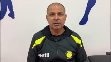 Paulo Coco elogia reação do Praia, mas lamenta eliminação no Mundial - Técnico do time brasileiro fala sobre jogo com Tianjin, que deixou equipe fora das semifinais na China