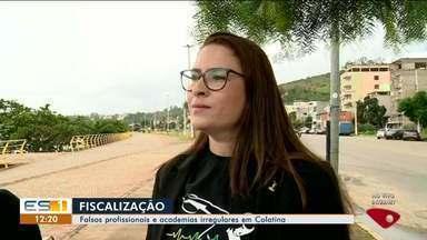 Conselho Regional de Educação Física faz fiscalização em academias de Colatina, ES - Denúncias diziam que profissionais que não eram habilitados atendendo clientes.