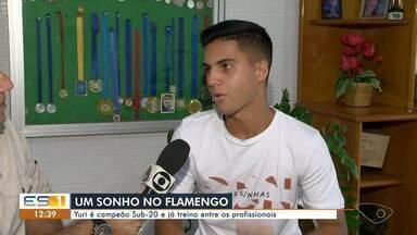 Capixaba é campeão sub 20 pelo Flamengo e já treina entre os profissionais - Ele realiza um sonho no Flamengo.