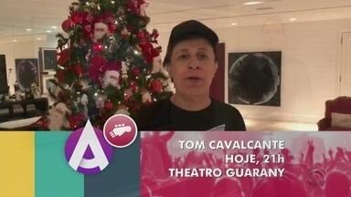 Tom Cavalcante se apresenta em Pelotas hoje à noite - Assista ao vídeo.
