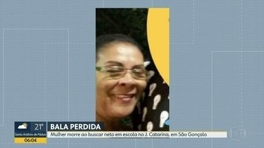 Mulher é baleada a caminho da escola dos netos, em São Gonçalo - Crime aconteceu no bairro Jardim Catarina.