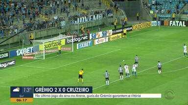 Veja os gols da vitória do Grêmio em cima do Cruzeiro - Com gols de Ferreirinha e Pepê, Tricolor venceu por 2 a 0.