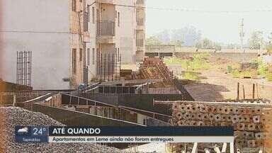 Moradores esperam entrega de apartamento há dois anos em Leme - EPTV não conseguiu contato com a construtora responsável pela obra.