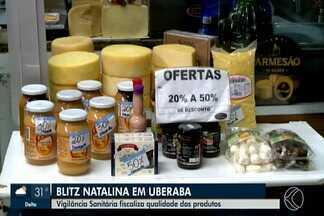 Blitz Natalina: Vigilância Sanitária inicia fiscalização de produtos natalinos em Uberaba - Objetivo é inspecionar os produtos mais comercializados nesta época do ano, como castanhas, nozes, panetones, entre outros, conforme as regras sanitárias vigentes.