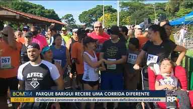 Parque Barigui recebe corrida da inclusão - O objetivo é promover a inclusão de pessoas com deficiência na sociedade.