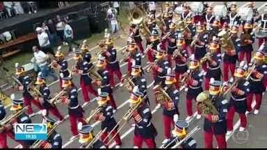 Pernambucanos participam de competição nacional de bandas e fanfarras - Evento é realizado em Goiás.