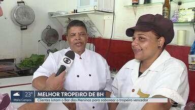 Bar das Meninas fica lotado depois de vencer o concurso O Melhor Tropeiro de BH - Clientes lotaram o bar na região Norte da capital para saborear o prato campeão.