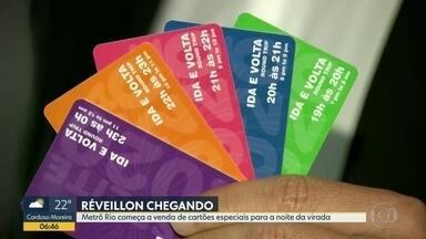 Metrô Rio começa a venda de cartões especiais para a noite da virada - Não haverá venda no dia 31. Usuário vai encontrar os bilhetes especiais nas estacoes Siqueira Campos, Pavuna, Uruguai, Central, Carioca e no Jardim Oceânico.