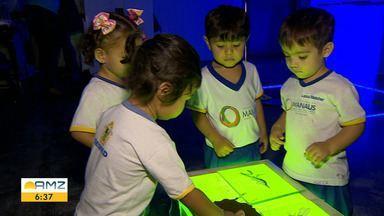 Conheça projeto que incentiva crianças a protegerem o meio ambiente - Projeto 'Pesquisadores de Berço' é promovido de forma divertida por uma creche em Manaus.