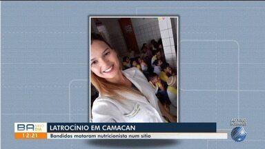 Nutricionista vítima de latrocínio em Camacan é enterrada na cidade de Pau Brasil - A mulher foi morta em um sítio na última sexta-feira (6).