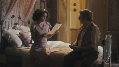 Inês lê para o pai uma das cartas que lhe escreveu - Afonso decide cozinhar para a filha e preparar seu prato preferido
