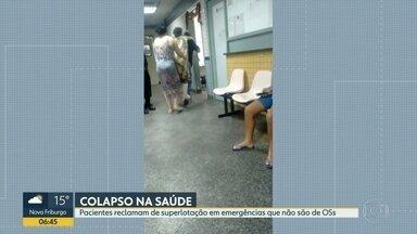 Paciente é carregada nas costas no Hospital Salgado Filho - Pacientes enfrentam superlotação no hospital Salgado Filho. Pacientes estão encontrando o hospital lotado, pois não há atendimento nas clínicas da família e hospitais.