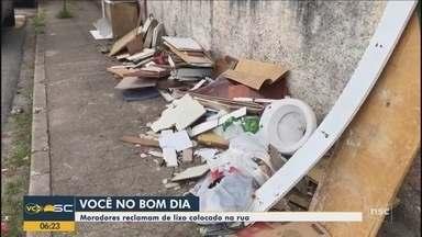 Quadro 'Você no BDSC': Moradores reclamam de lixo jogado em rua de Florianópolis - Quadro 'Você no BDSC': Moradores reclamam de lixo jogado em rua de Florianópolis