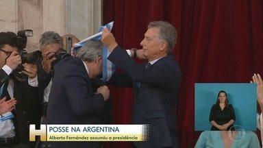Alberto Fernandez toma posse como novo presidente da Argentina - Em seu primeiro discurso, Fernandez adotou um tom conciliador e de união no país.