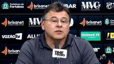 Presidente do Ceará faz balanço da temporada em entrevista coletiva - Acompanhe na reportagem de Vinícius Palheta
