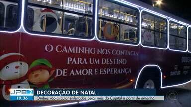 JPB2JP: Ônibus vão circular enfeitados pelas ruas da Capital a partir de amanhã - Decoração de Natal.