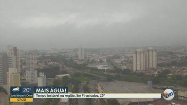 Confira a previsão do tempo para Campinas e região nesta quarta-feira - Dia deve ser de tempo instável nas cidades, com chances de chuva. Piracicaba registra máxima de 25º C.