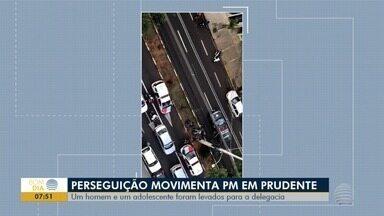 Perseguição policial movimenta ruas em Presidente Prudente - Jovem que conduzia uma motocicleta não possuía CNH.