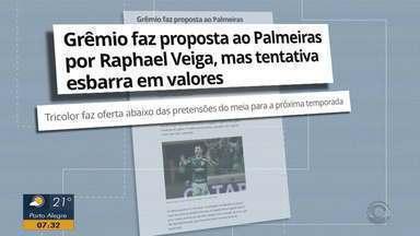 Grêmio faz proposta ao Palmeiras por Raphael Veiga - Tricolor faz oferta abaixo das pretensões do meia para a próxima temporada.