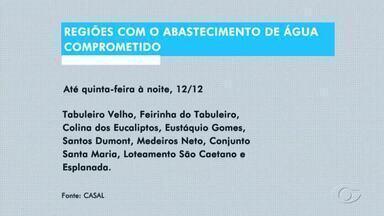 Vários bairros de Maceió estão sem água nesta quarta-feira - Previsão é que serviço de interligação da rede seja concluído na quinta-feira (12).