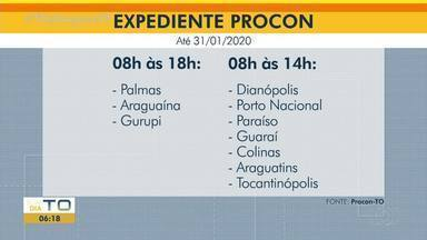 Procon anuncia mudança no horário de expediente até o fim de janeiro de 2020 - Procon anuncia mudança no horário de expediente até o fim de janeiro de 2020