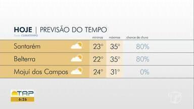 Confira a previsão do tempo para Santarém e região - Saiba qual temperatura esperada para esta quarta-feira (11).