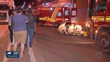 Homem fica gravemente ferido ao ser atropelado na avenida Coronel Antonino - Homem fica gravemente ferido ao ser atropelado na avenida Coronel Antonino