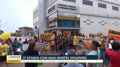 Rondônia é o 5° estado com mais mortes violentas - Homens entre 20 e 24 anos são a maioria entre as vítimas.