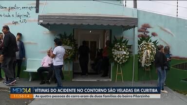 Quatro das vítimas de acidente em contorno são veladas em Curitiba - A polícia abriu um inquérito pra investigar as causas da tragédia