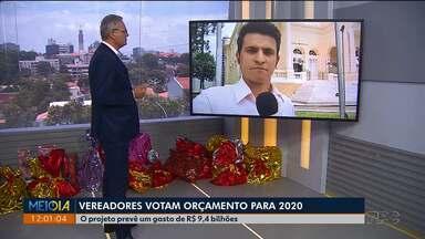 Vereadores votam orçamento pra 2020 - O projeto prevê um gasto de R$ 9,4 bilhões