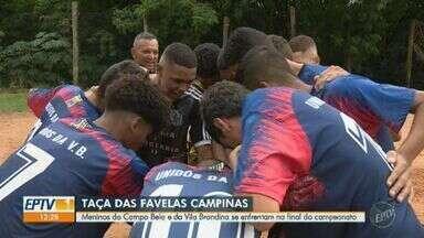 Campo Belo e Vila Brandina se enfrentam na final masculina da Taça das Favelas - Times se preparam para confronto na grande final.