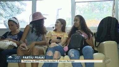 Finalistas do EPTV na Escola curtem 5 dias em Bertioga - Concurso de redações premiou finalistas com uma viagem especial no litoral de São Paulo.