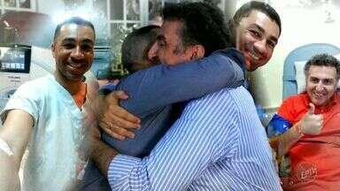 Guglielmo encontrou doador de rim em um curso e vai ter presente de natal especial - Rodrigo decidiu doar após constatar que era compatível com italiano.