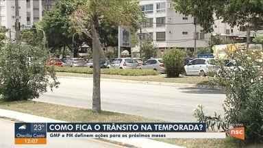 GMF e PM definem ações para cuidar do trânsito na temporada de verão em Florianópolis - GMF e PM definem ações para cuidar do trânsito na temporada de verão em Florianópolis