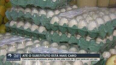 Com aumento na procura, preço do ovo sobe mais de 10% em um mês - Alimento virou opção com preço alto das carnes.