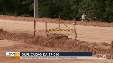 Duplicação da BR-010 em Imperatriz está parada - Pontes construídas sobre o riacho cacau estão interditadas e as máquinas foram retiradas do local.