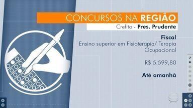 Concursos públicos abrem inscrições na região de Presidente Prudente - Confira as oportunidades disponibilizadas para os candidatos.