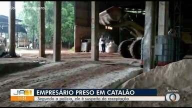 Empresário é preso suspeito de receptação de carga roubada em Catalão - Polícia apreendeu 24 toneladas de fertilizantes.