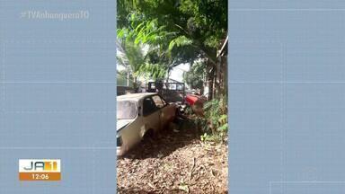Moradores denunciam carros abandonados em Paraíso do Tocantins - Moradores denunciam carros abandonados em Paraíso do Tocantins