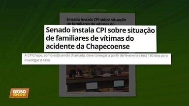 Senado instala CPI sobre situação de famílias de vítimas do voo da Chapecoense - Senado instala CPI sobre situação de famílias de vítimas do voo da Chapecoense