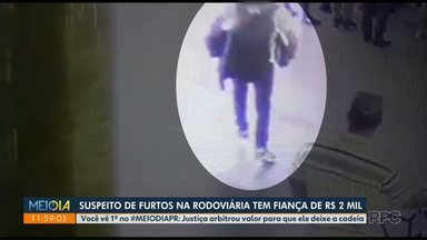 Suspeito de furtos na rodoviária tem fiança de R$ 2 mil - Ele foi preso na segunda-feira.