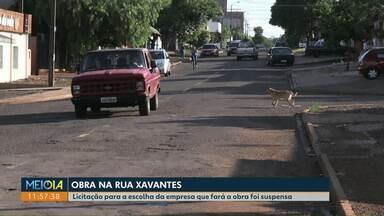 Licitação para a escolha da empresa que fará a obra no Santa Cruz foi suspensa - Rua Xavantes, uma das principais do bairro, vai passar por revitalização.